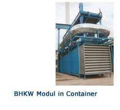 BHKW-Modul in Container